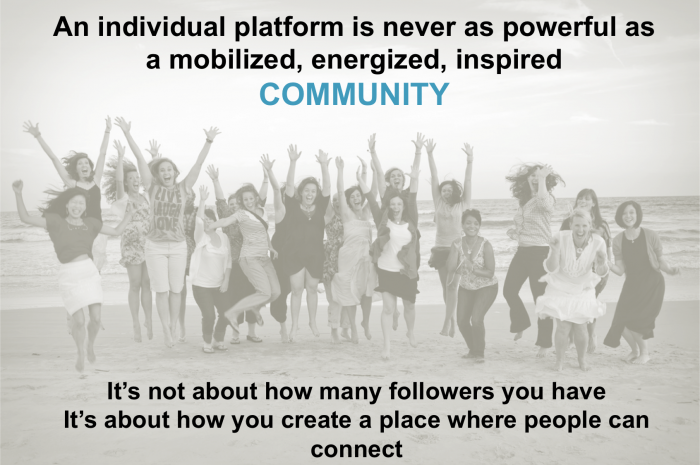 Four helpful social media laws: 3. It's about Community not Individuals