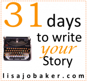 31 days Lisa-Jo Baker