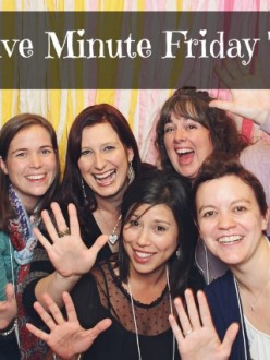 Five Minute Friday: Finish {Announcing a passing of the baton}