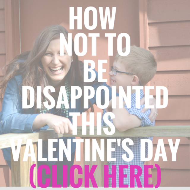 HOW NOT TO BE DISAPPOINTED THISVALENTINE'S DAY