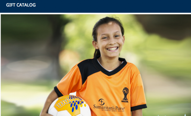 Samaritan's Purse Gift Catalog- sports