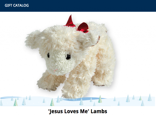 Samaritan's Purse Gift Catalog Stuffed Toy