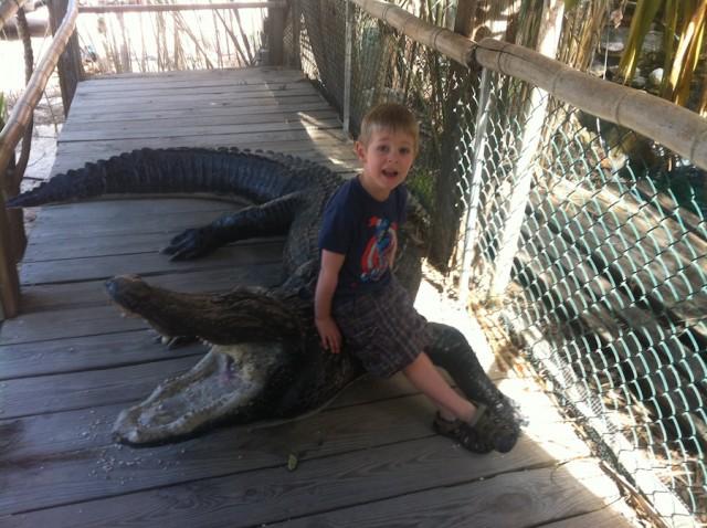 6. boy with Croc