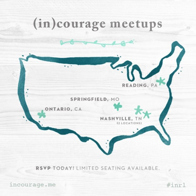 (in)courage in real life meetups