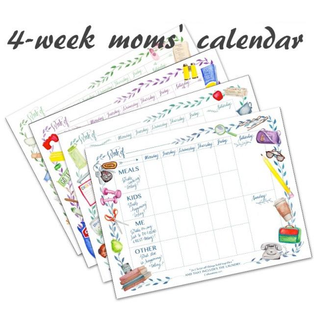 4 Week Motherhood Calendar