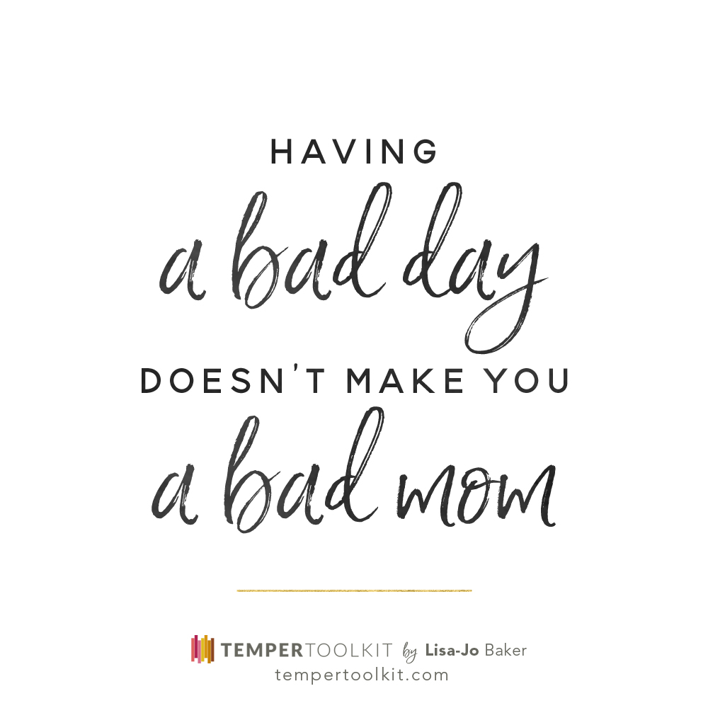 Temper Toolkit – Having a Bad Day B&W